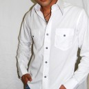 White Shirt with Black Button